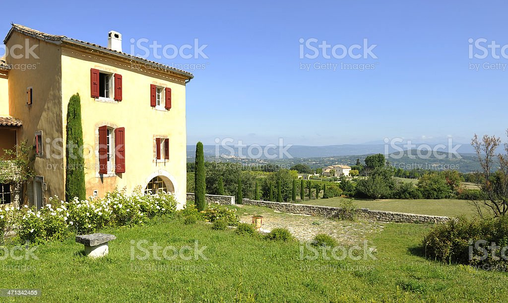 One bastide in Luberon - France stock photo