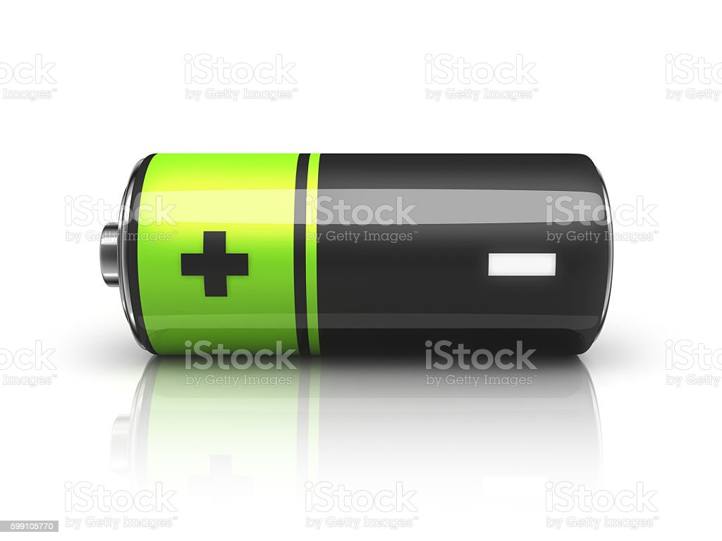 One battery stock photo