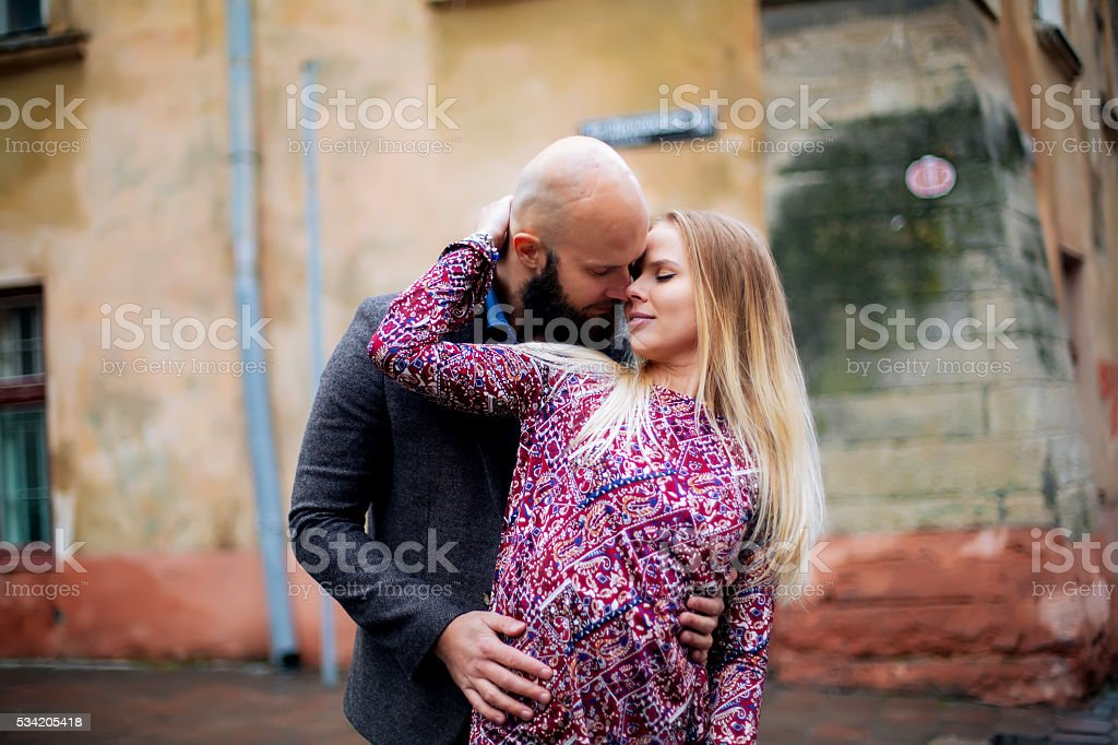 One beautiful stylish couple of young woman royalty-free stock photo