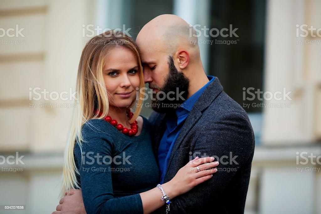 One beautiful stylish emotional couple of young woman royalty-free stock photo