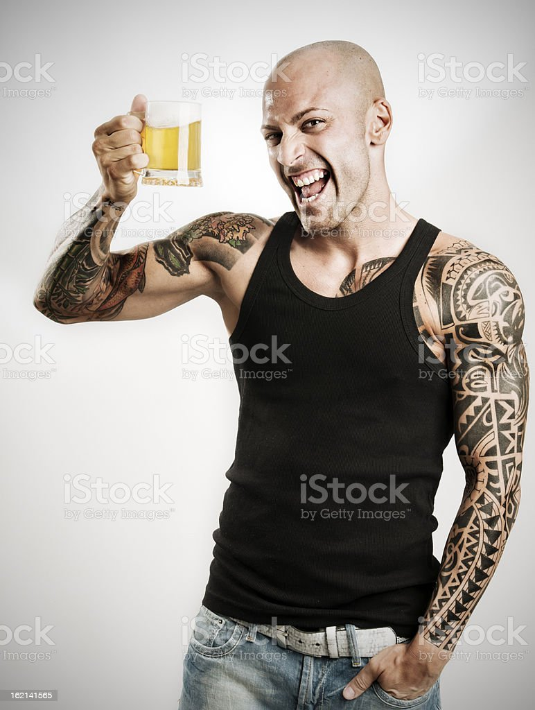 one beer for you stock photo