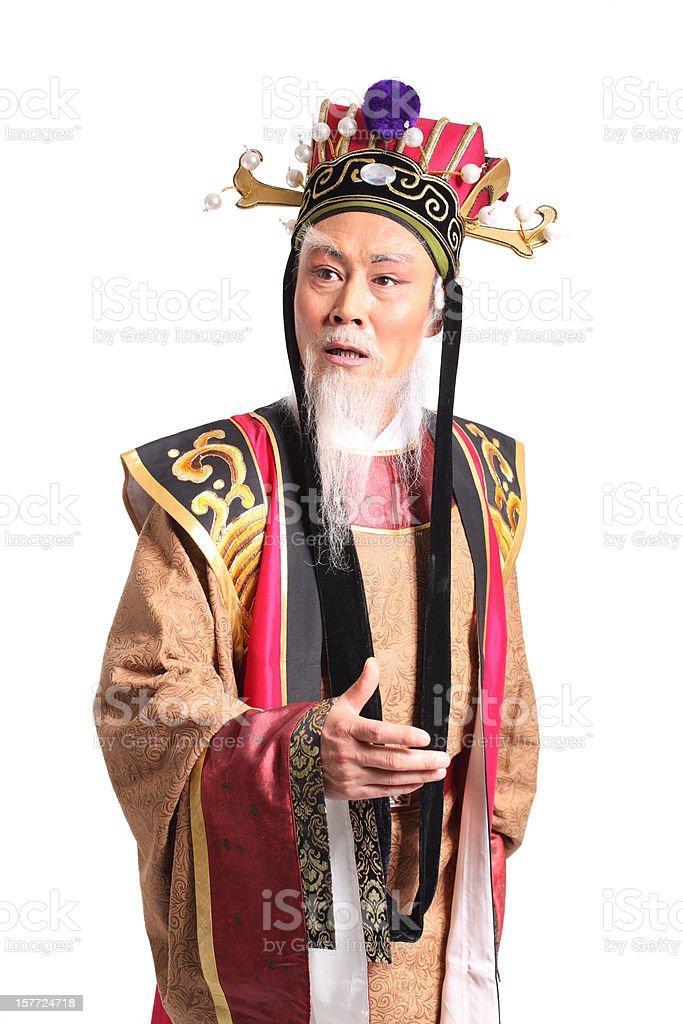 one Beijing opera actor royalty-free stock photo