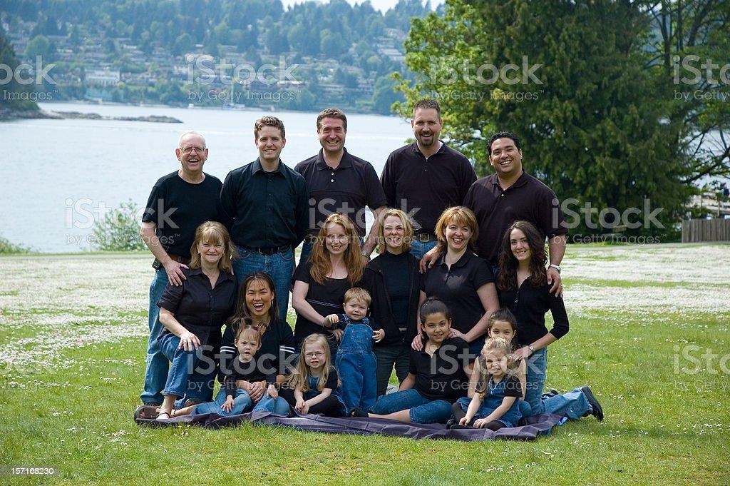 One Big Happy Family stock photo