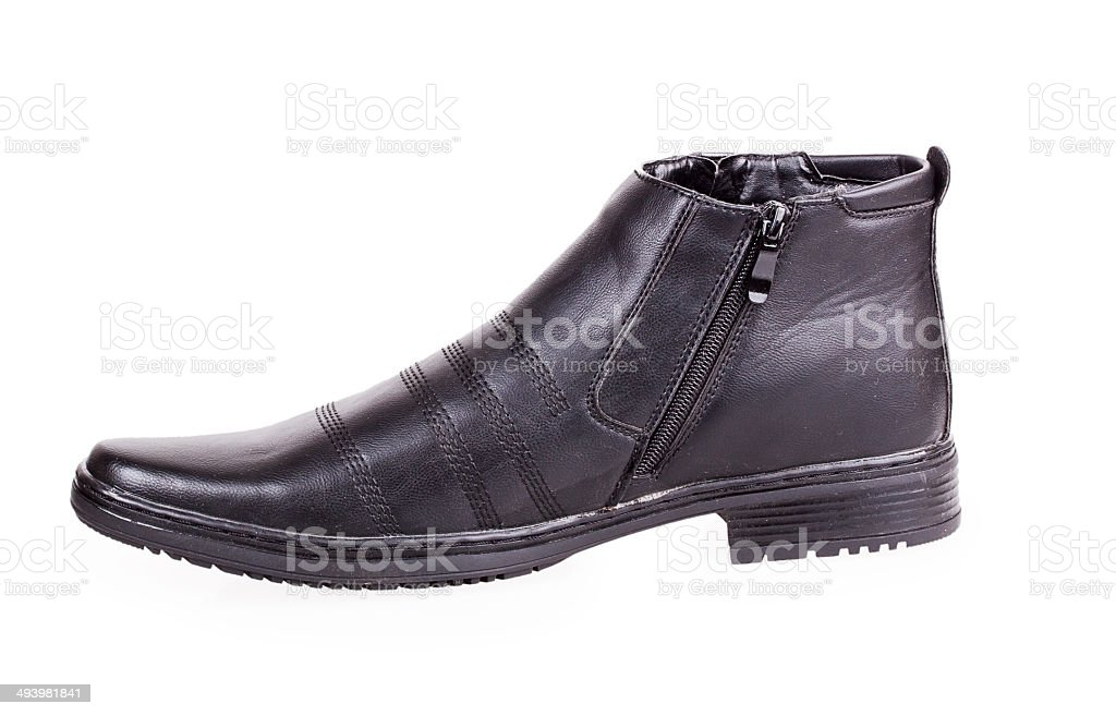 one black male shoes stock photo