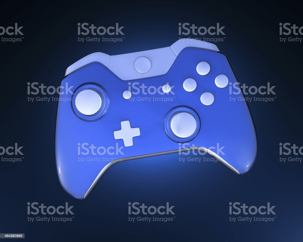 One Blue Game Controller royalty-free stock photo