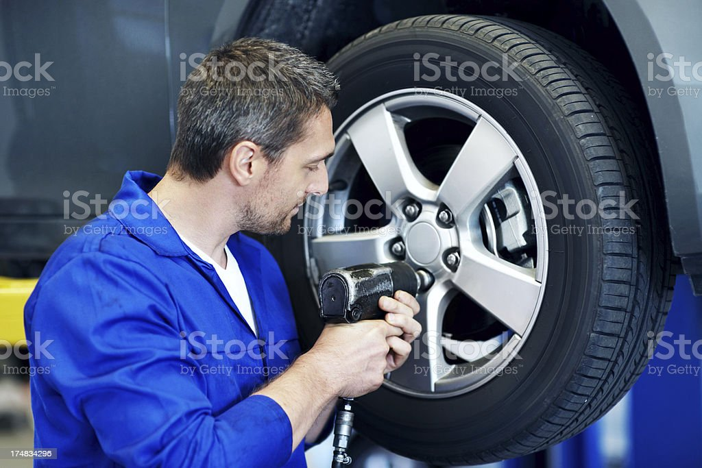 One bolt at a time stock photo
