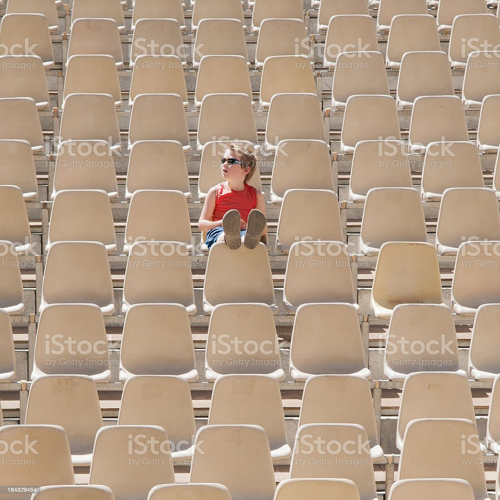 one boy audience royalty-free stock photo