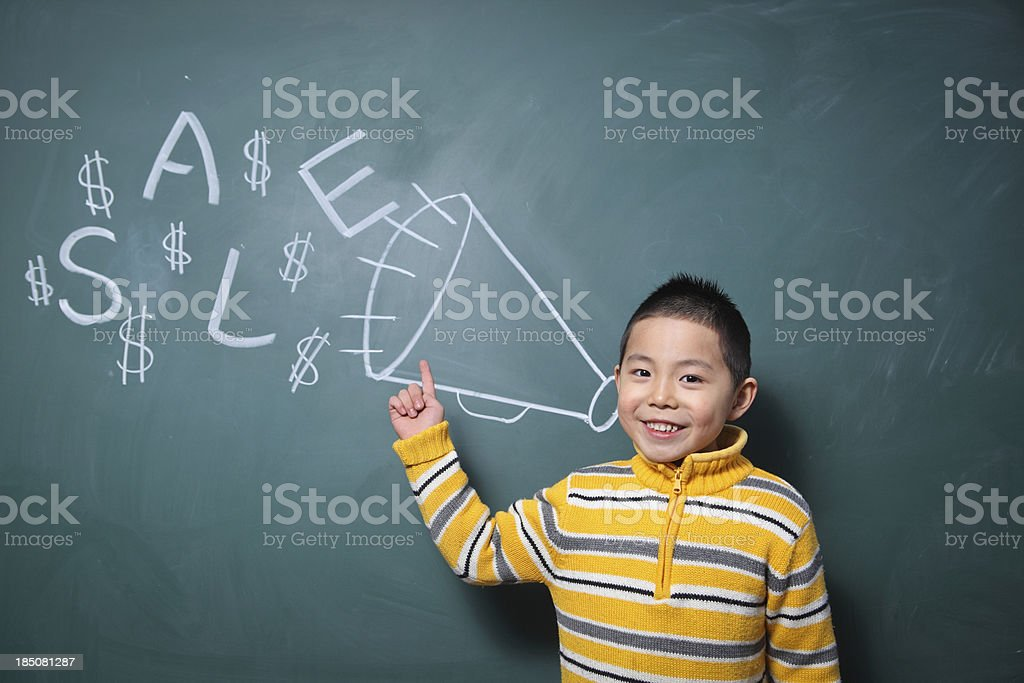 one boy is shouting royalty-free stock photo