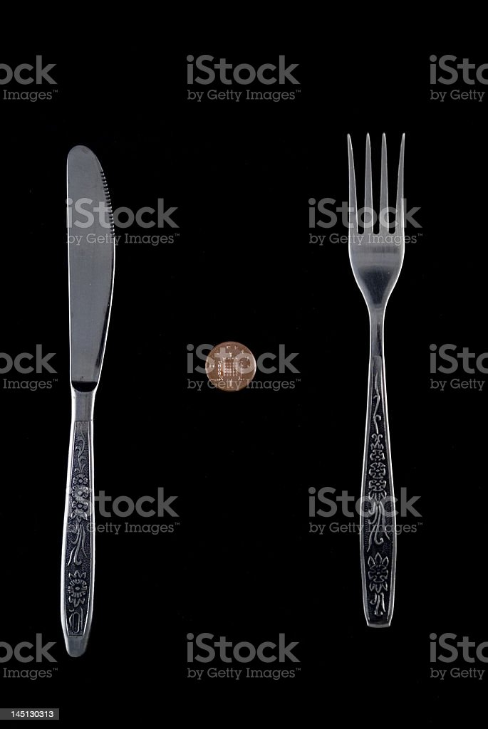 One british penny meal royalty-free stock photo