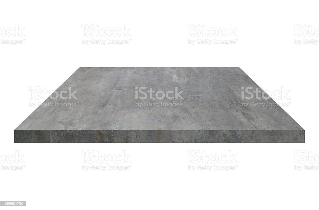 one cement block or shelf isolated on white stock photo