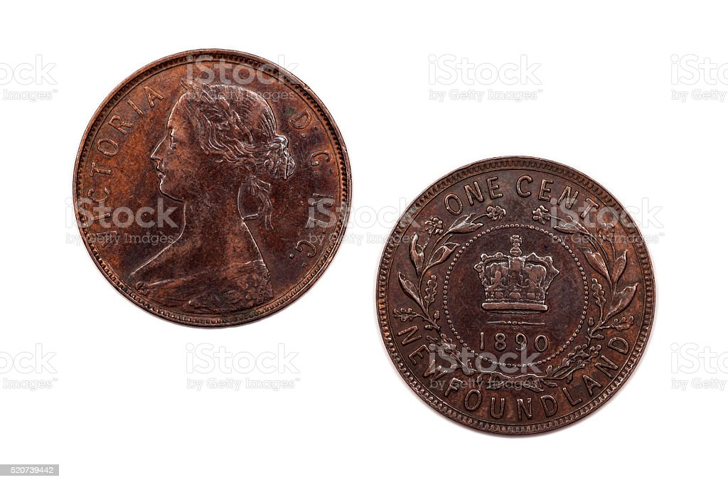 One Cent from Newfoundland 1890 stock photo