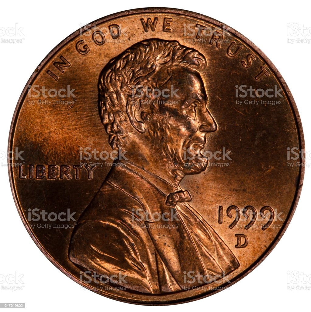 one cent USA stock photo