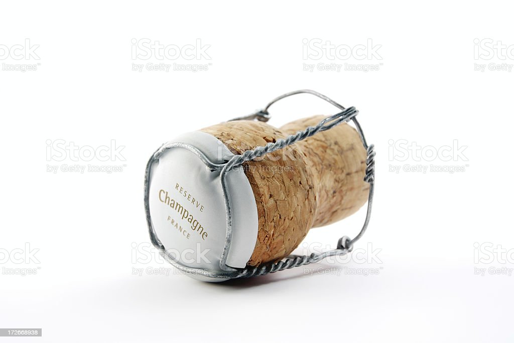 One Champagne cork (serie of images) stock photo