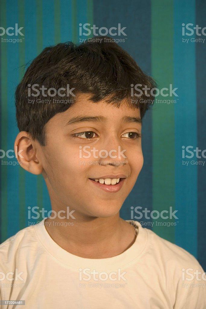 One Cheerful Indian Asian Child Joyful Boy People Vertical royalty-free stock photo