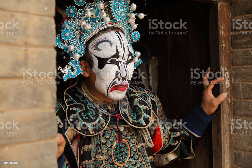 one Chinese opera actor ,He is a folk artist. stock photo
