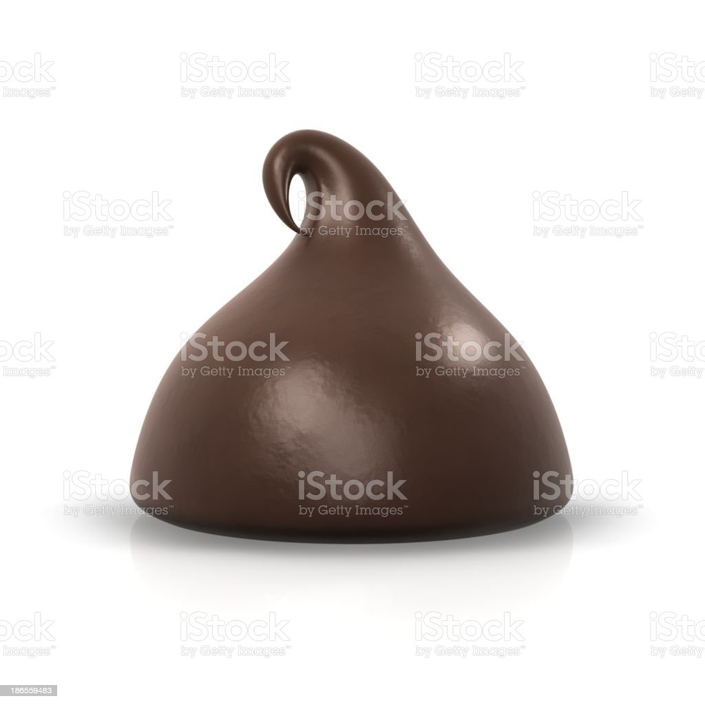 One chocolate chip stock photo