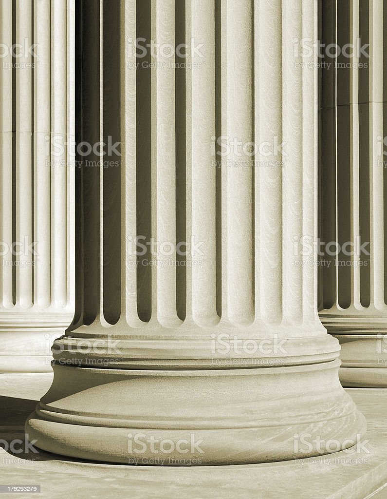 One classic column royalty-free stock photo