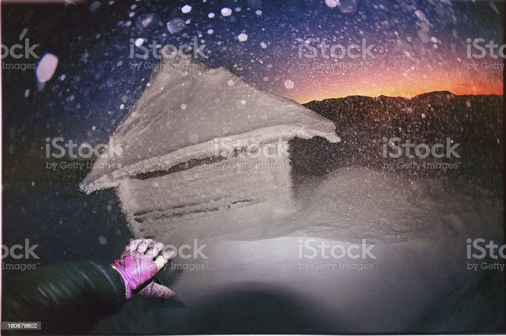One climber of the storm royalty-free stock photo