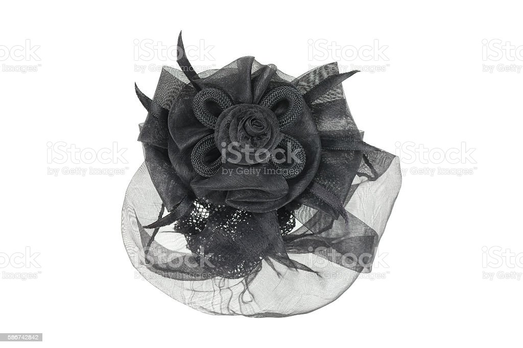 one clothing hairnet isolated on white stock photo