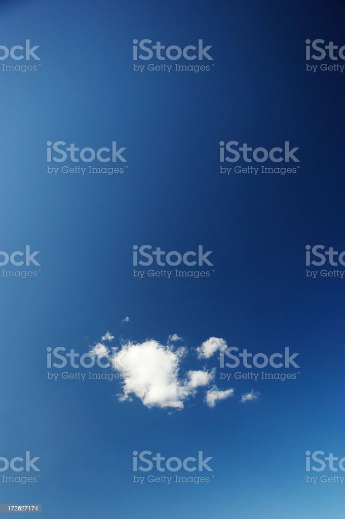 One Cloud royalty-free stock photo