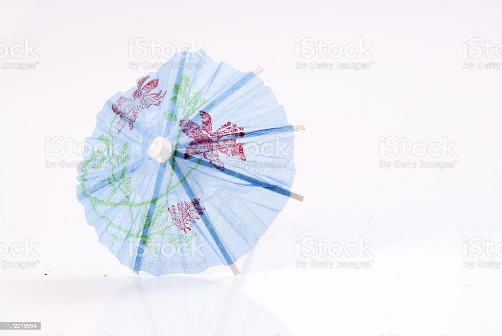 One Cocktail umbrella royalty-free stock photo