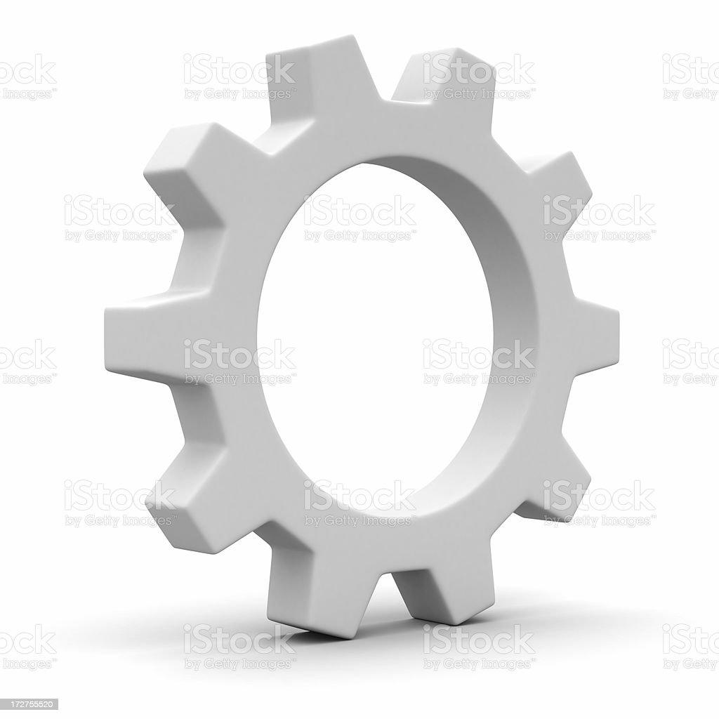One cogwheel royalty-free stock photo