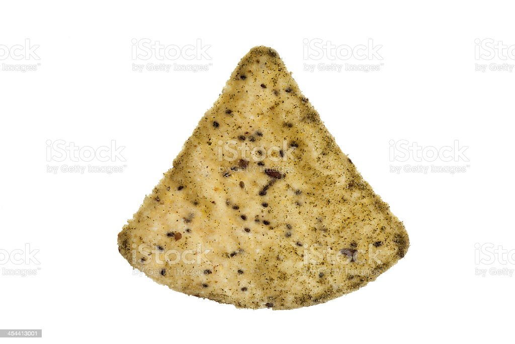 one corn chip royalty-free stock photo