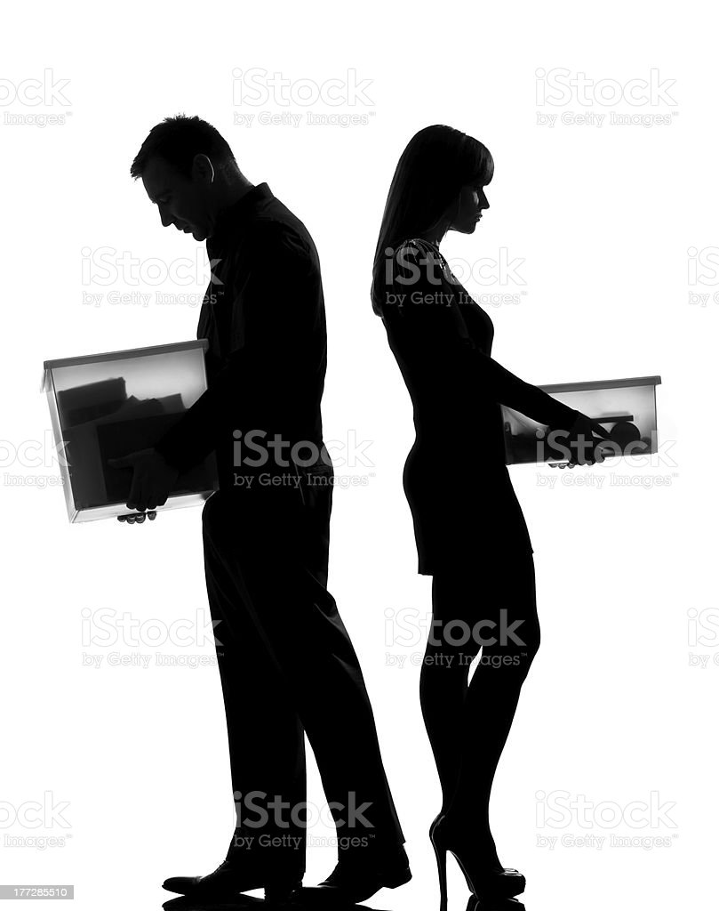 one couple man and woman divorce  separation royalty-free stock photo