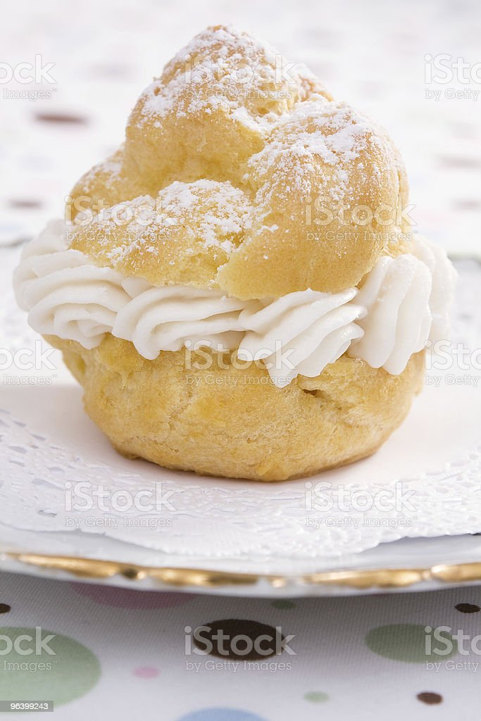 One Cream Puff royalty-free stock photo
