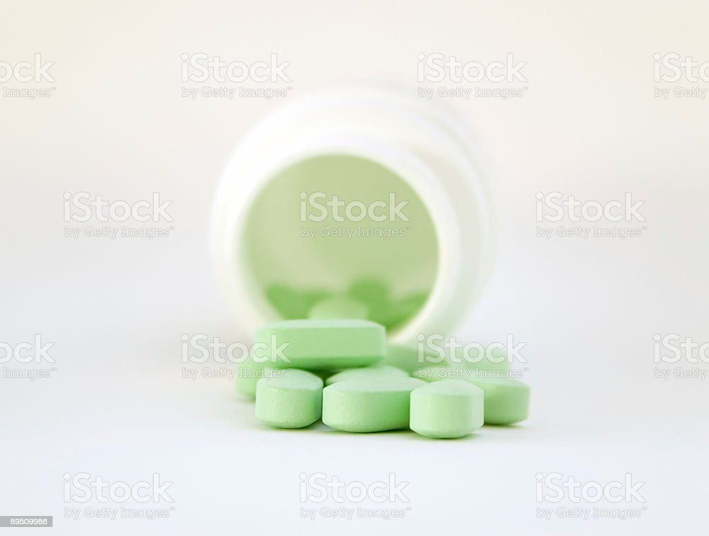One credit only - Vitamins with a jar royalty-free stock photo