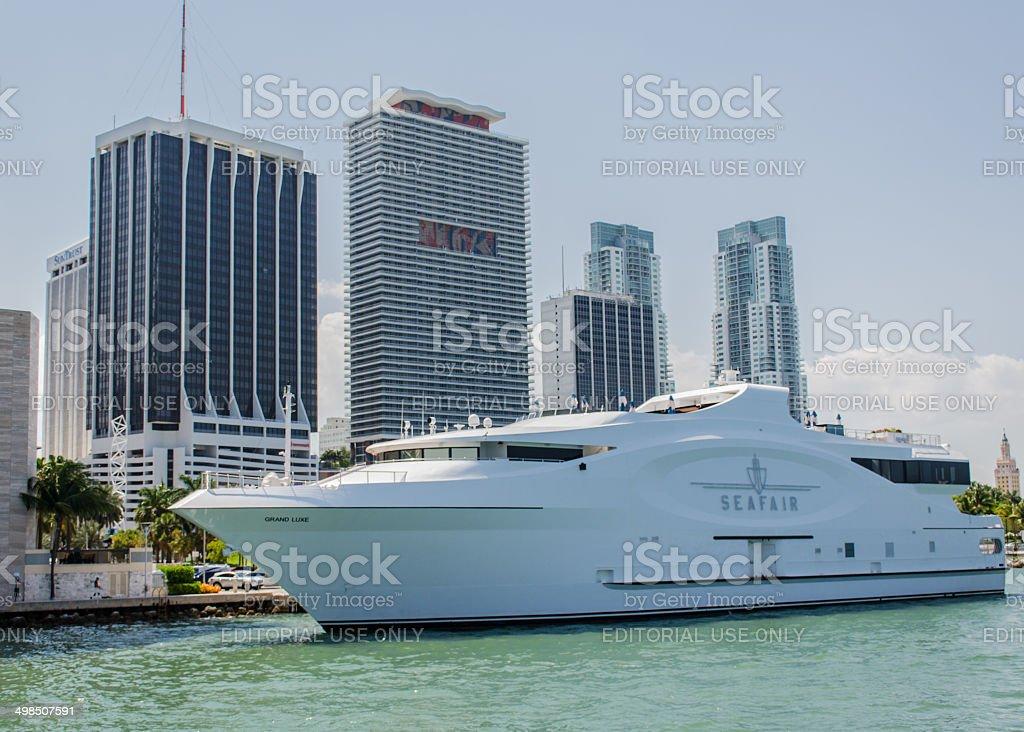 One Cruise docked royalty-free stock photo