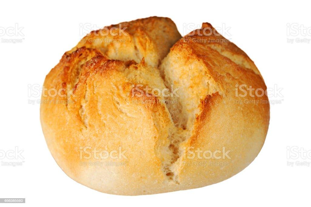 One crusty bread roll stock photo
