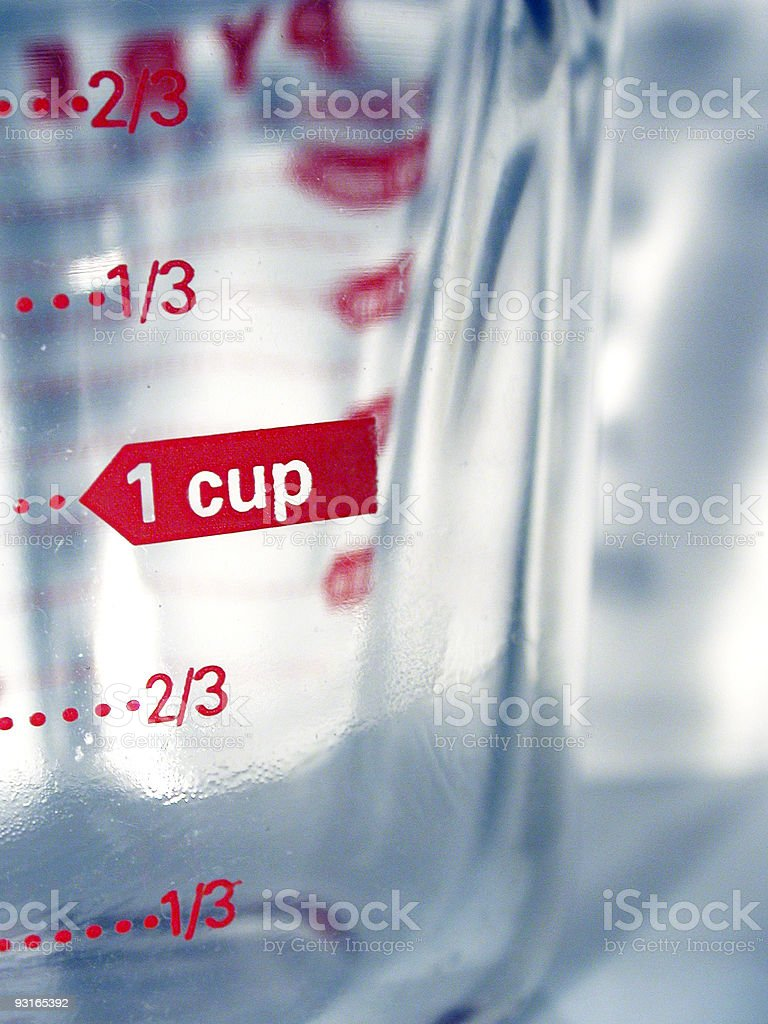 One Cup stock photo