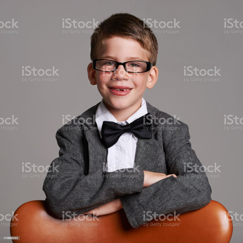 One day he'll be a huge success! stock photo