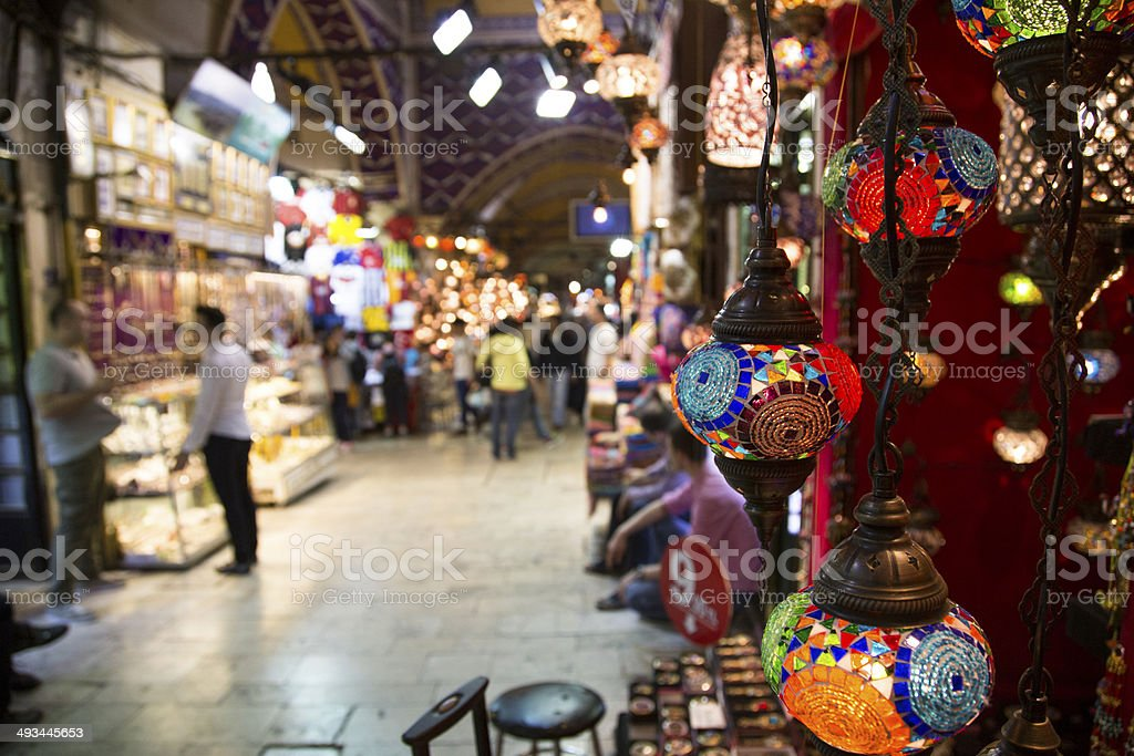 one day in the grand bazaar, istanbul stock photo