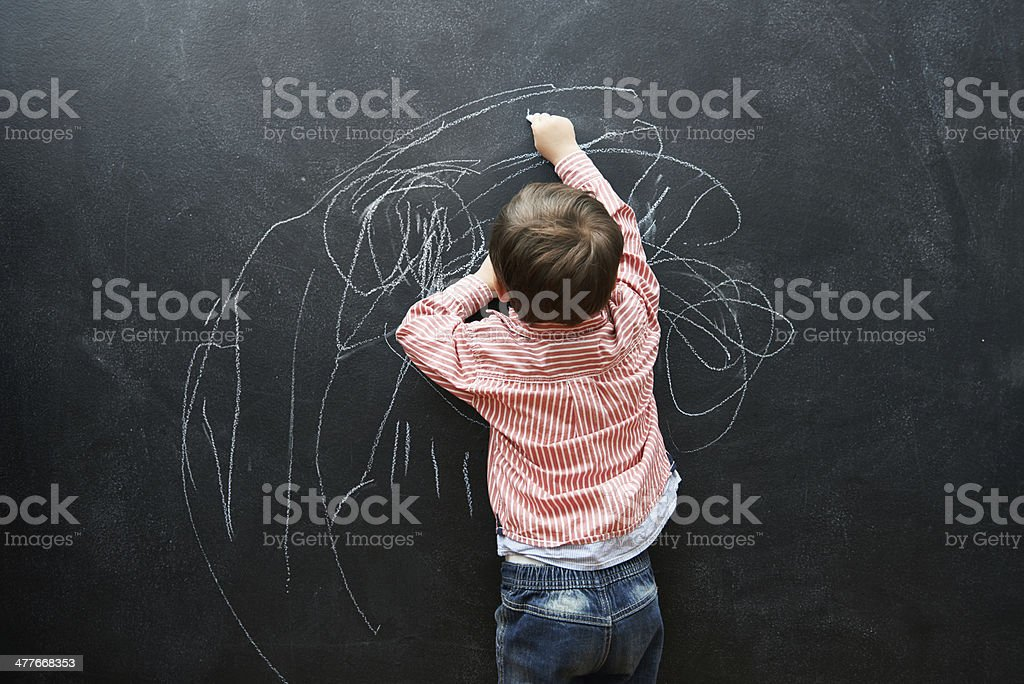 One day, this drawing will sell for millions royalty-free stock photo