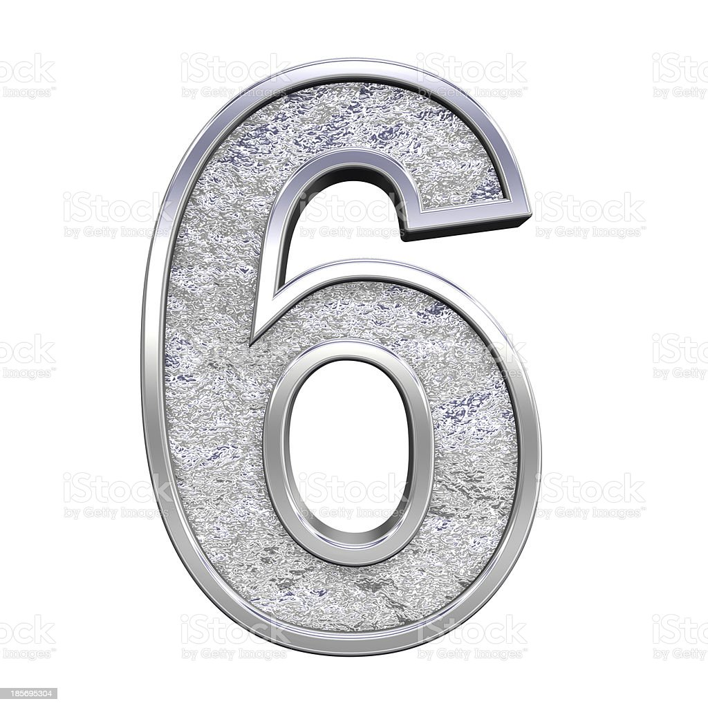 One digit from chrome cast alphabet set royalty-free stock photo