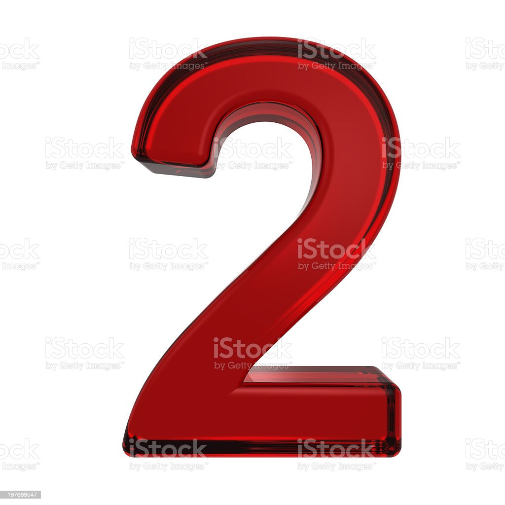 One digit from ruby alphabet set royalty-free stock photo