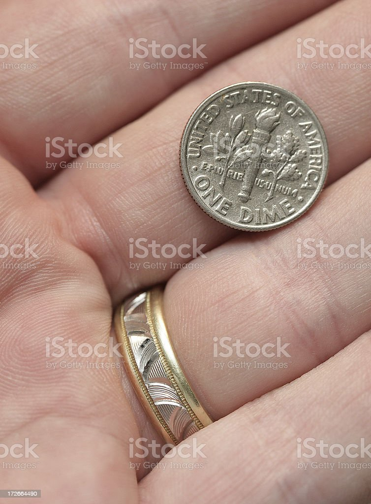 One Dime royalty-free stock photo