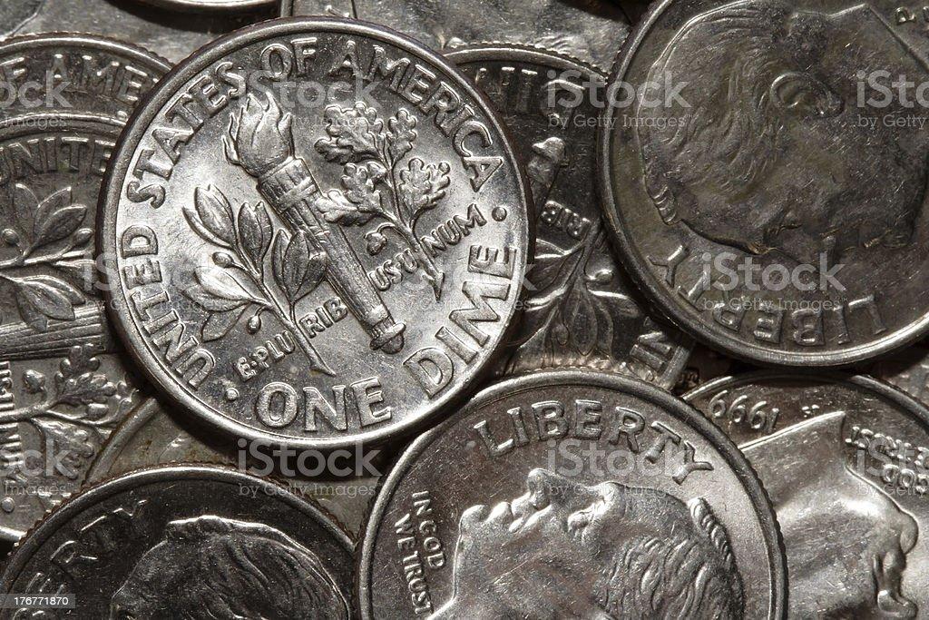 one dime stock photo