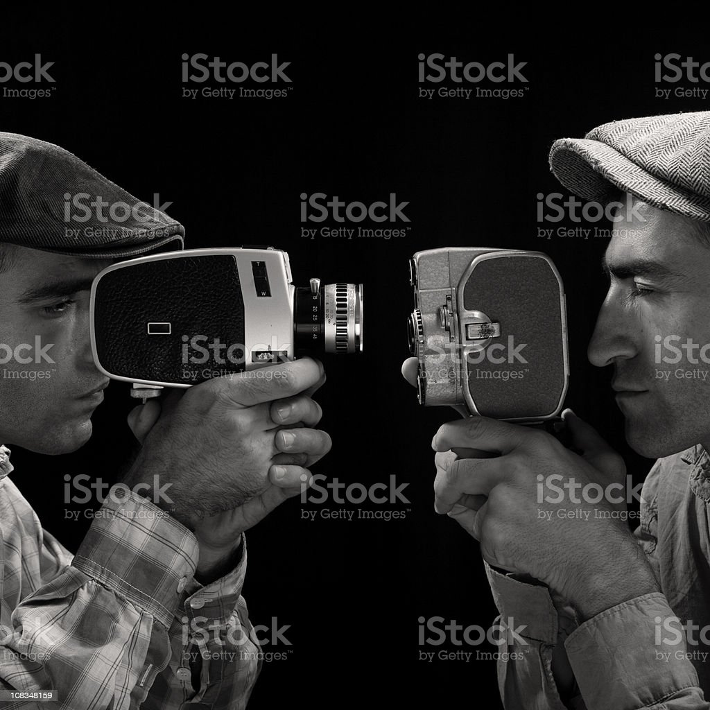 One Director Versus Other For Best Film Contest royalty-free stock photo