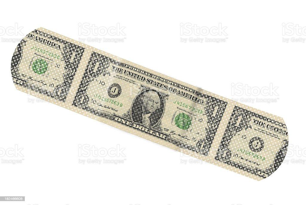 One Dollar Bandaid stock photo