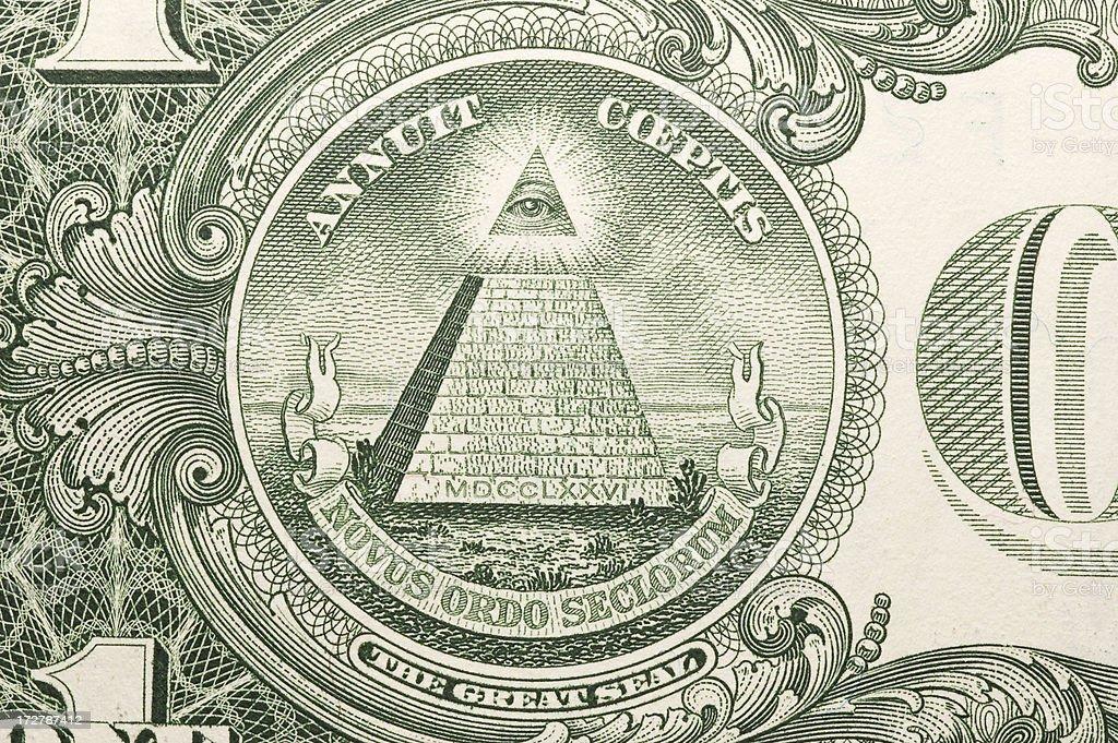 One Dollar Bill stock photo