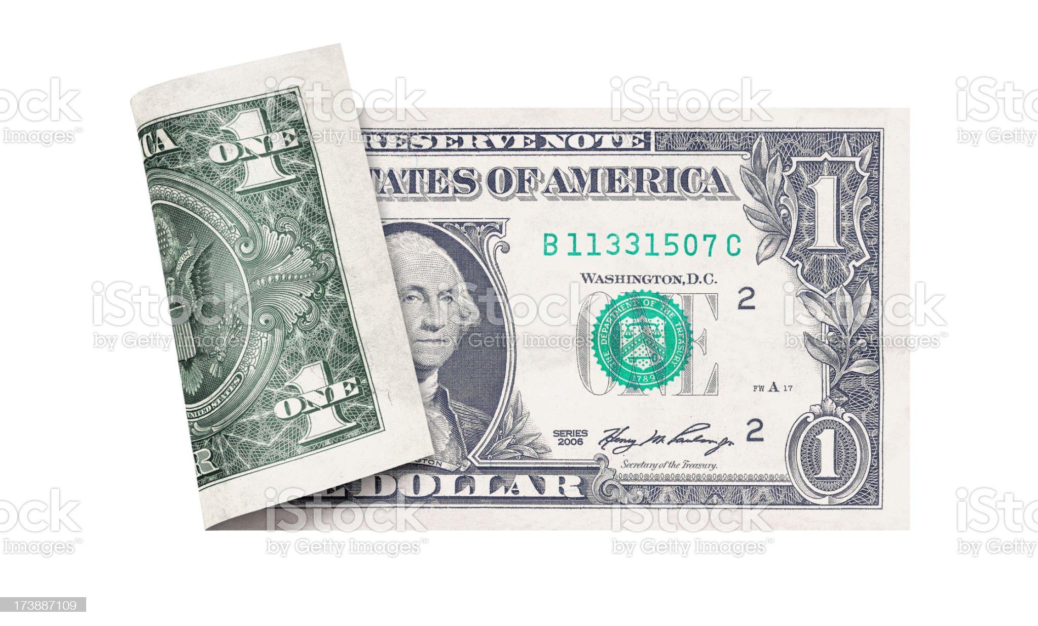 One dollar bill royalty-free stock photo