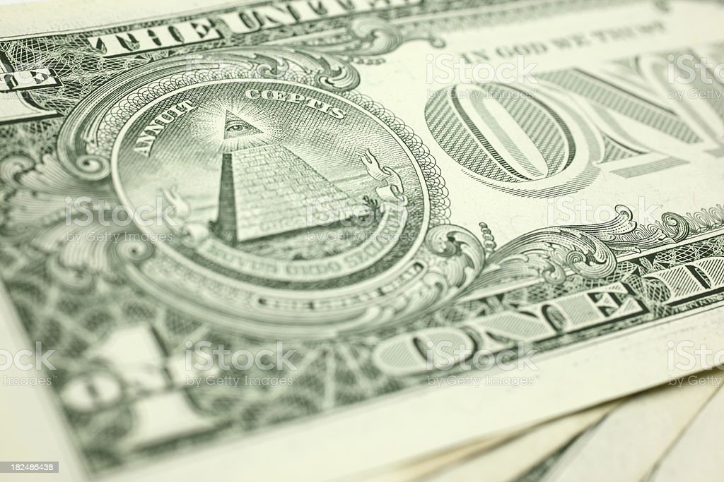 One Dollar Bill royalty-free stock photo