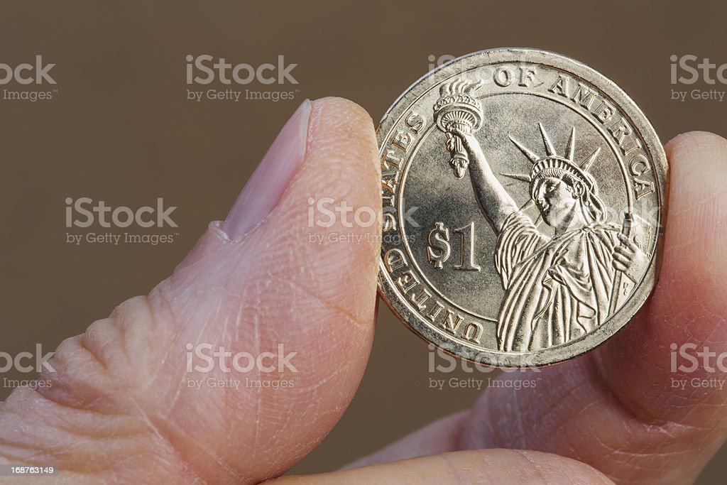 One Dollar Coin royalty-free stock photo