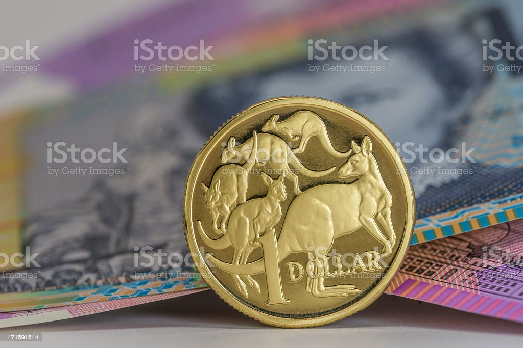 One Dollar Coin stock photo