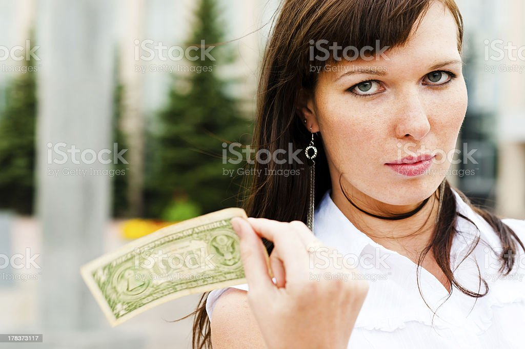 one dollar royalty-free stock photo