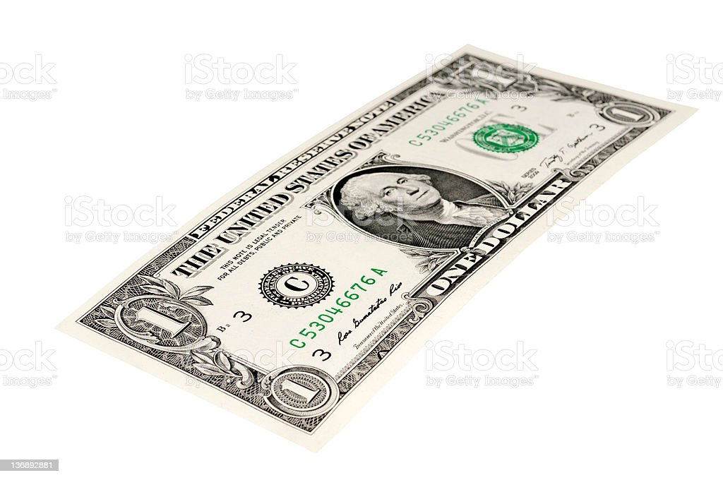One dollar united states dollar bill stock photo