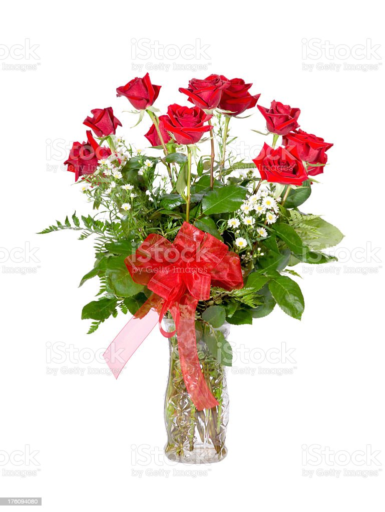 One Dozen Red Roses royalty-free stock photo